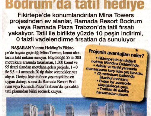 Yurt Gazetesi – Fikirtepe'den Ev Alana Bodrum'da Tatil Hediye (Temmuz 2017)